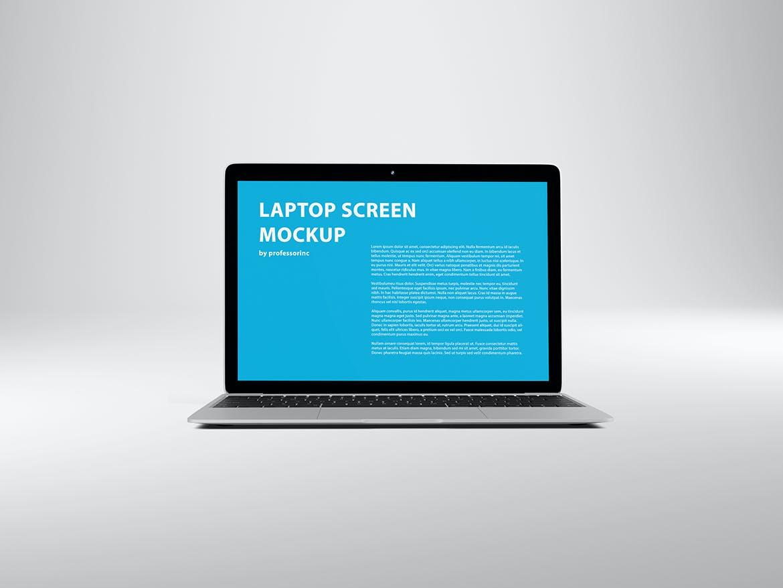 网页WEB设计笔记本电脑屏幕演示样机 14×9 Screen Mockup – Silver插图(1)