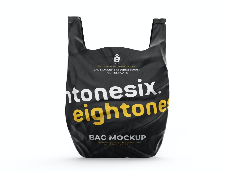 塑料袋设计展示样机模板 Plastic Bag Mockup Template插图(1)