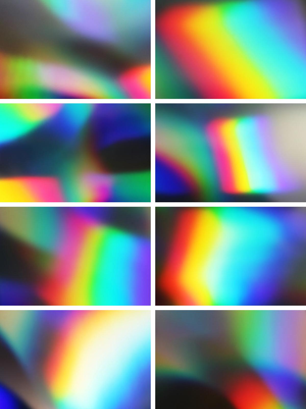 8款潮流高清炫彩模糊渐变海报背景纹理JPG图片素材 Holographic Texture Collection插图(1)