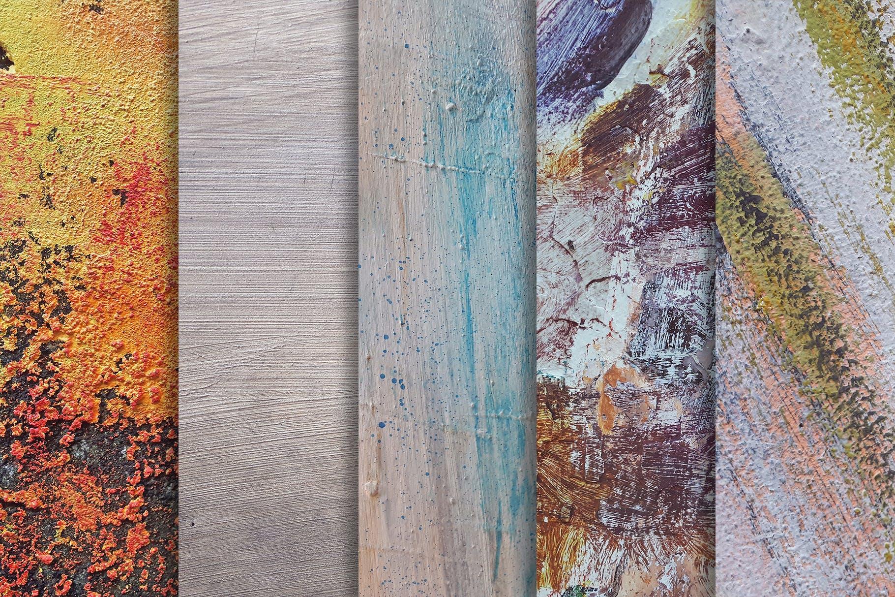 10款高清破裂做旧涂料油漆背景纹理素材 Paint Textures x10插图(1)