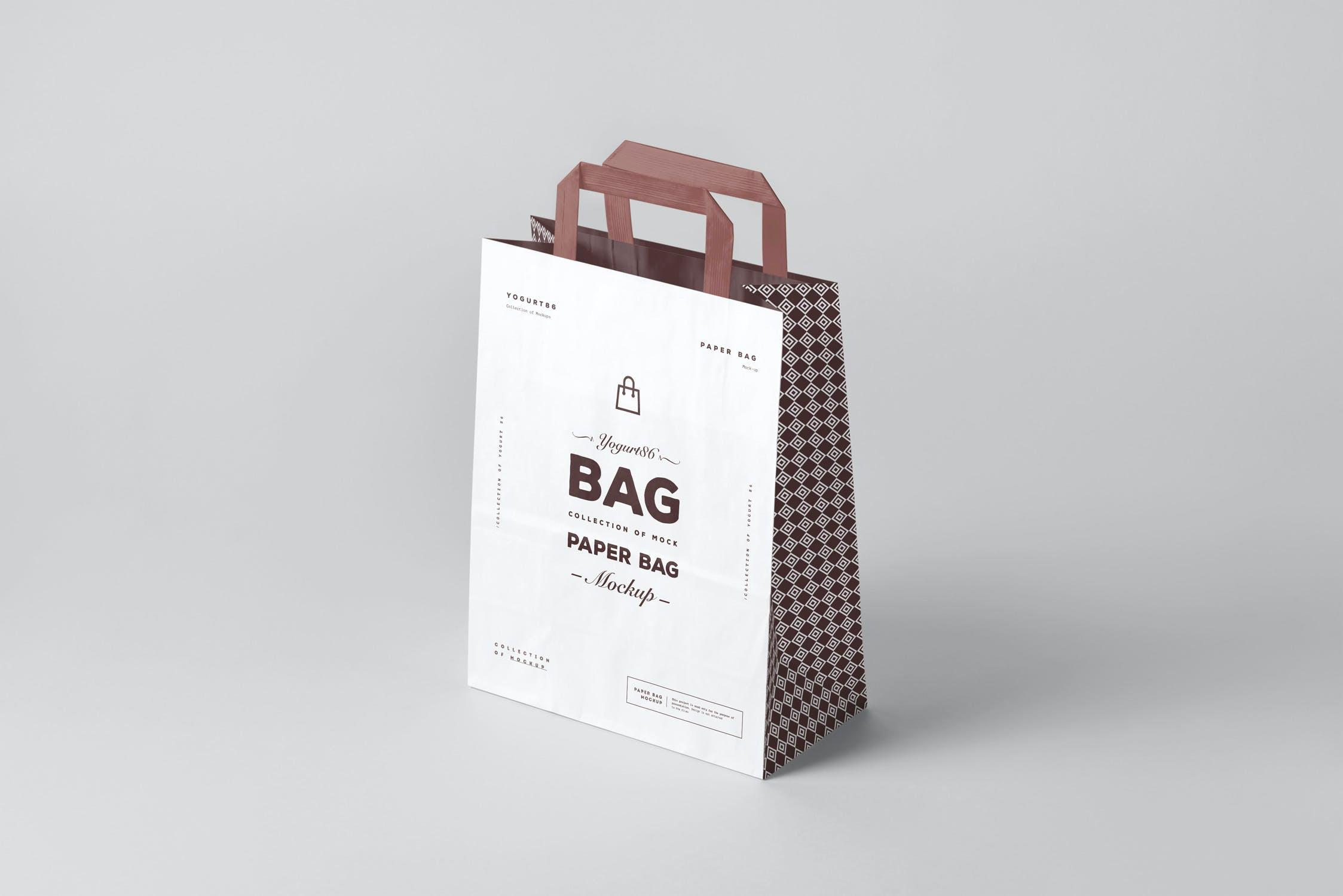 11款商城购物手提纸袋设计展示样机 Paper Bag Mockup 3插图(1)
