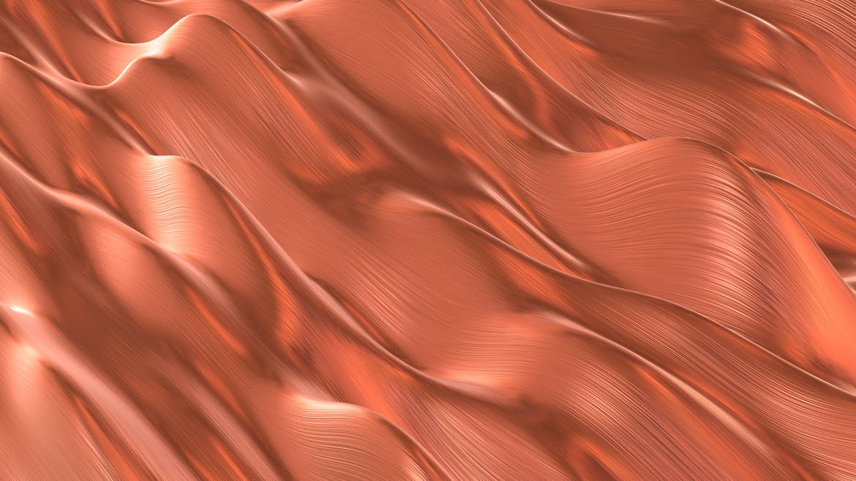 6款铜拉丝波浪金属背景素材 Copper Backgrounds插图(1)