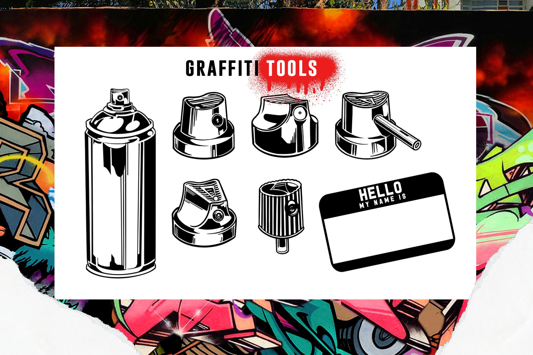 31款涂鸦效果Procreate笔刷下载 Graffiti Bombing Procreate Brush Kit插图(3)