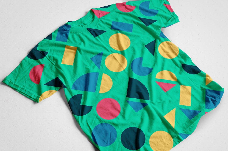 135复古多彩几何艺术图案矢量背景素材 135 Geometric Colorful Art Retro Patterns 001插图(1)