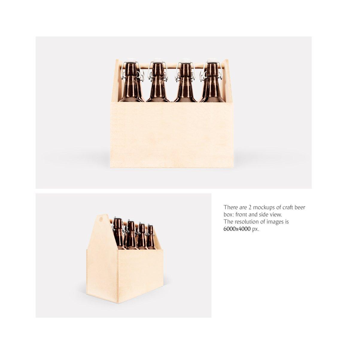 工艺啤酒包装盒设计展示样机模板 Craft Beer Box Mockup插图(1)