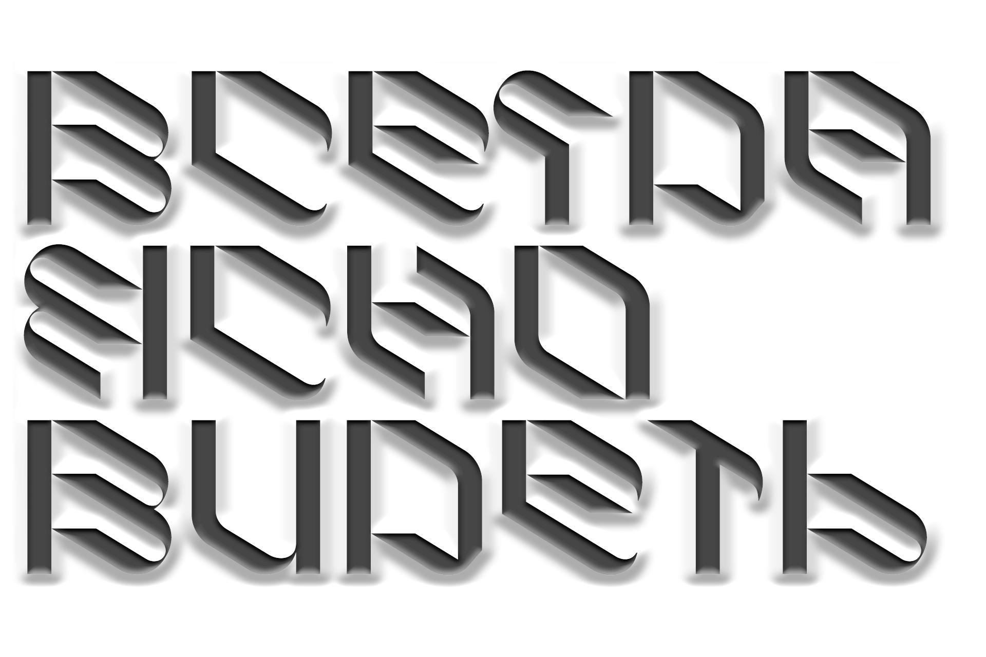 倾斜对角线英文字体下载 Eskos Typeface插图(19)