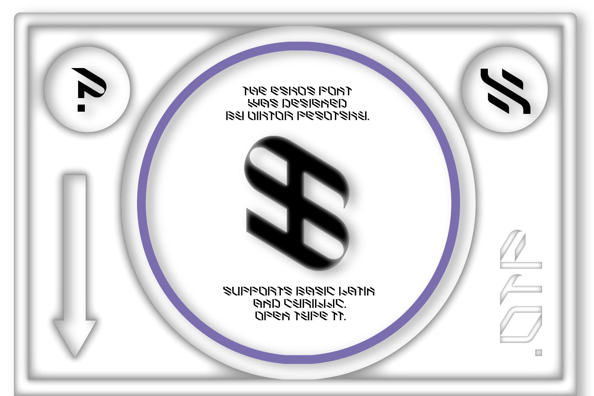倾斜对角线英文字体下载 Eskos Typeface插图(21)