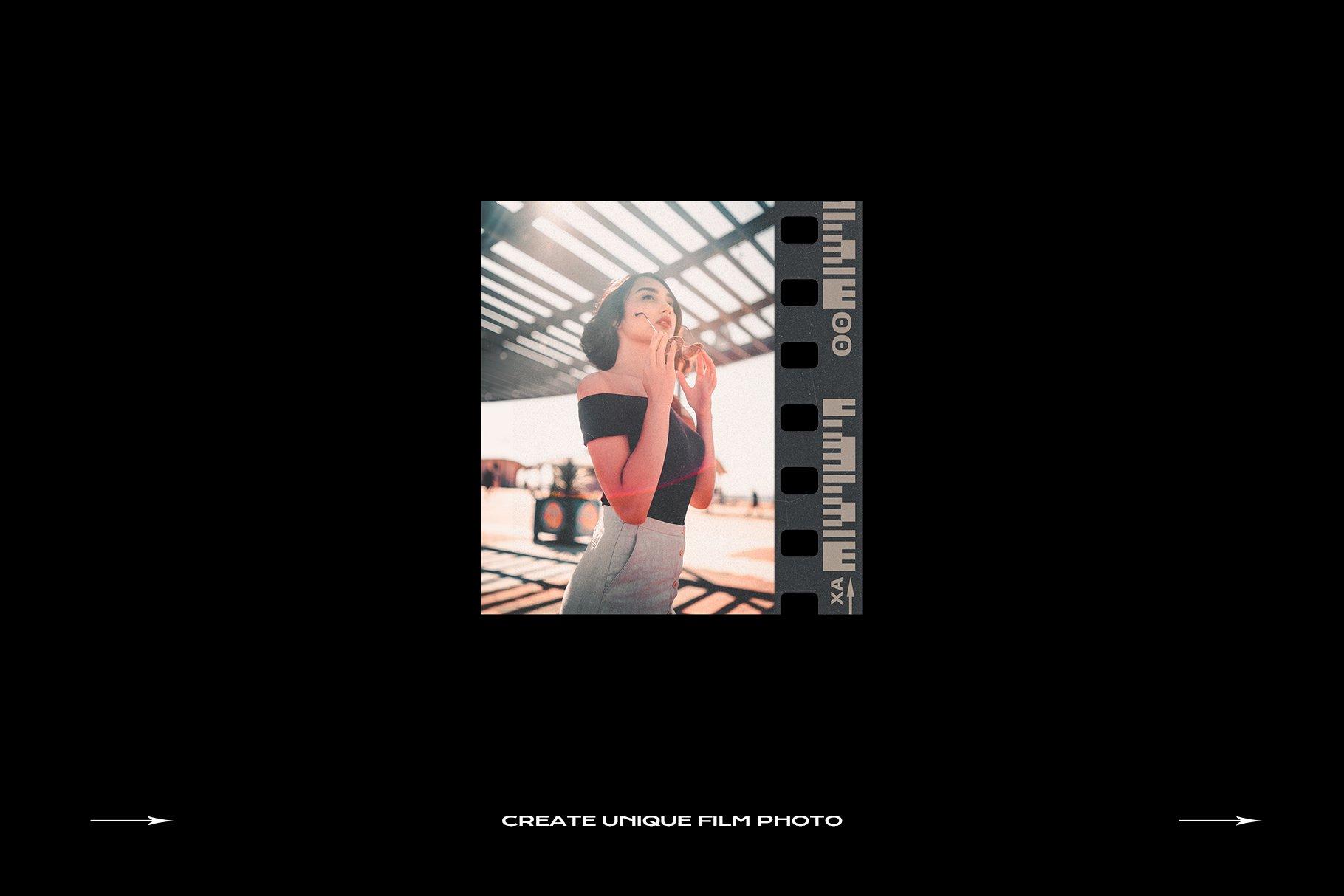 120款复古质感胶卷底片相片边框特效滤镜样机模板 Film Frame Mockup Template Bundle插图(41)