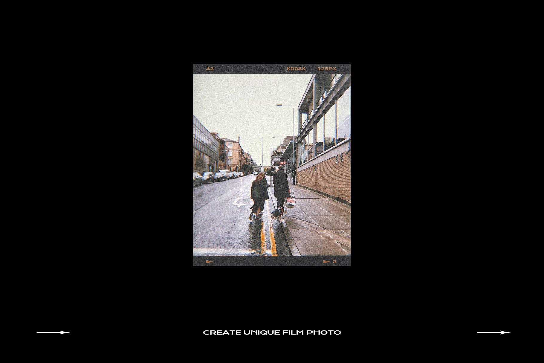 120款复古质感胶卷底片相片边框特效滤镜样机模板 Film Frame Mockup Template Bundle插图(44)