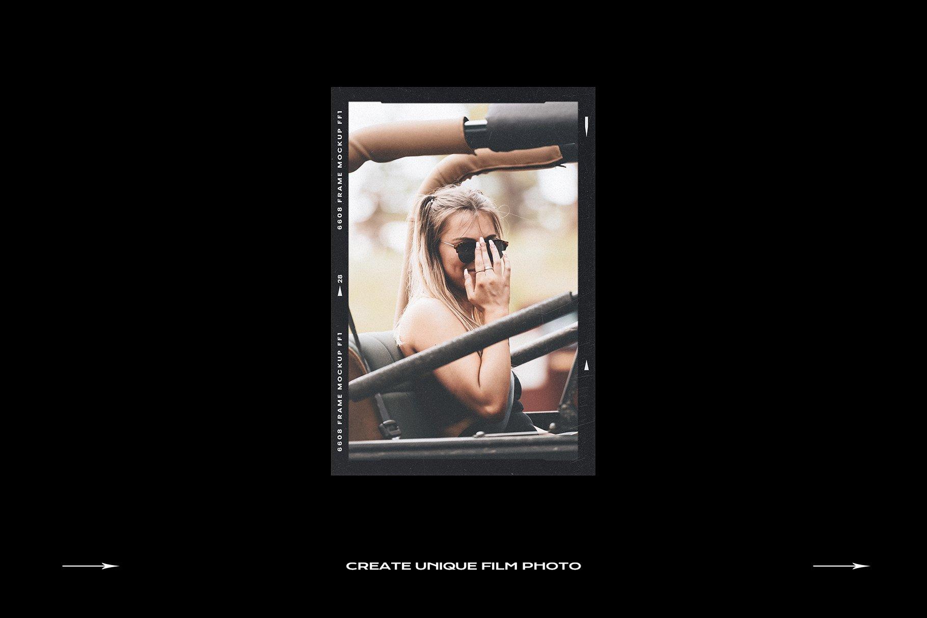 120款复古质感胶卷底片相片边框特效滤镜样机模板 Film Frame Mockup Template Bundle插图(47)