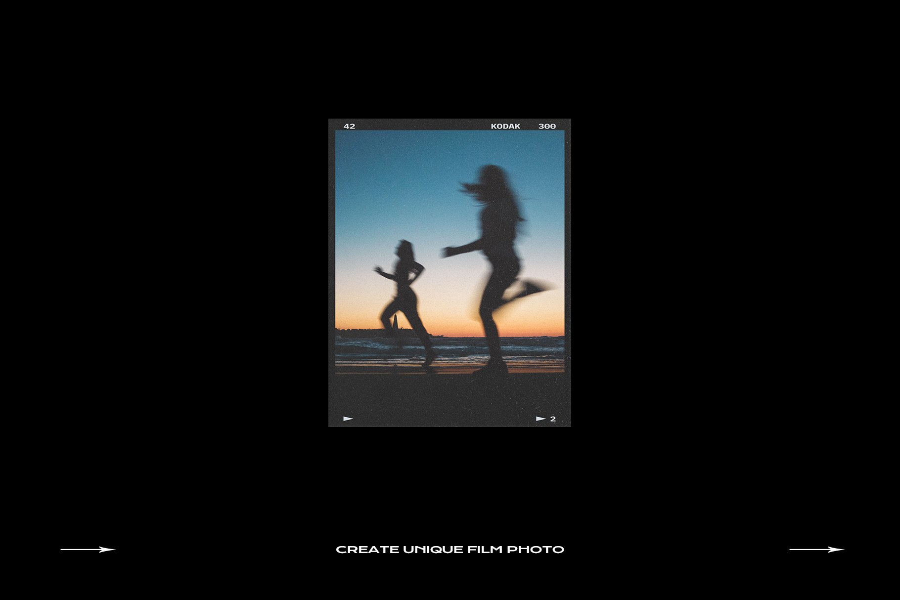 120款复古质感胶卷底片相片边框特效滤镜样机模板 Film Frame Mockup Template Bundle插图(50)