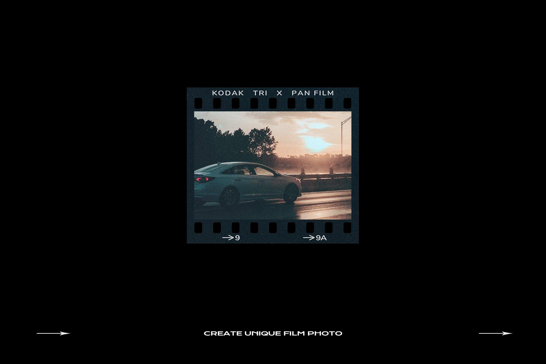 120款复古质感胶卷底片相片边框特效滤镜样机模板 Film Frame Mockup Template Bundle插图(56)
