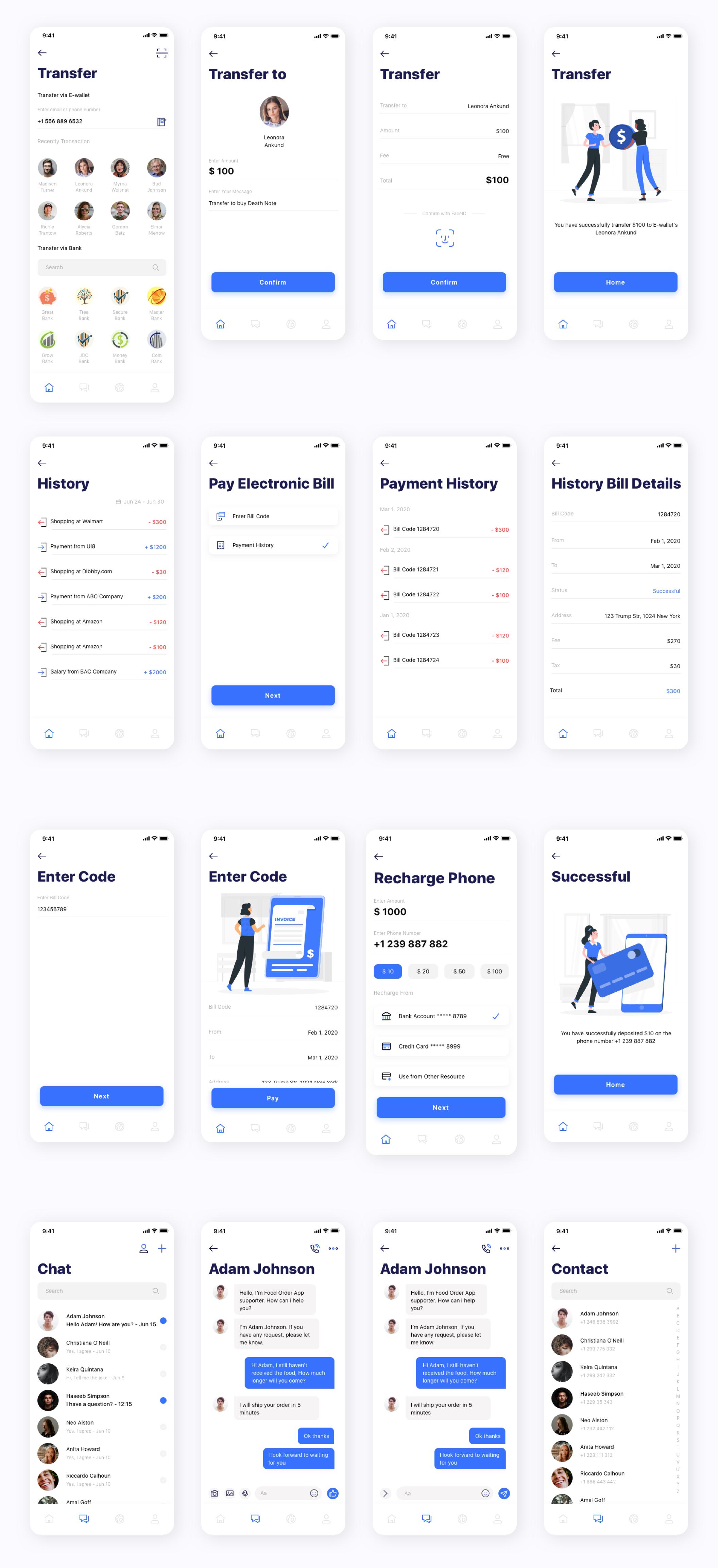 银行金融电子钱包应用APP UI套件 Kard | e-Wallet App Ui Kit插图(7)
