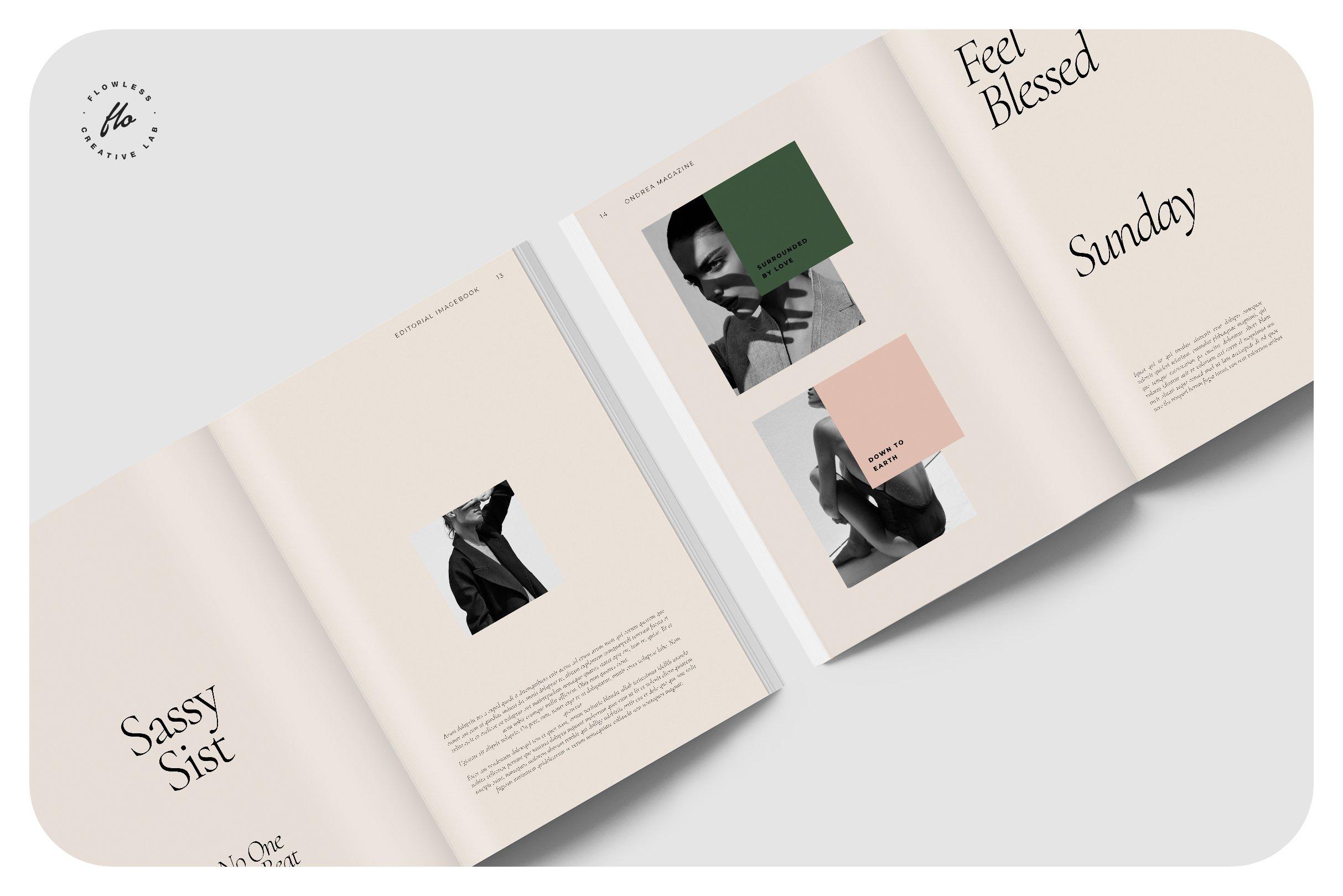 时尚服装设计作品集INDD画册模板 ONDREA Editorial Imagebook插图(2)