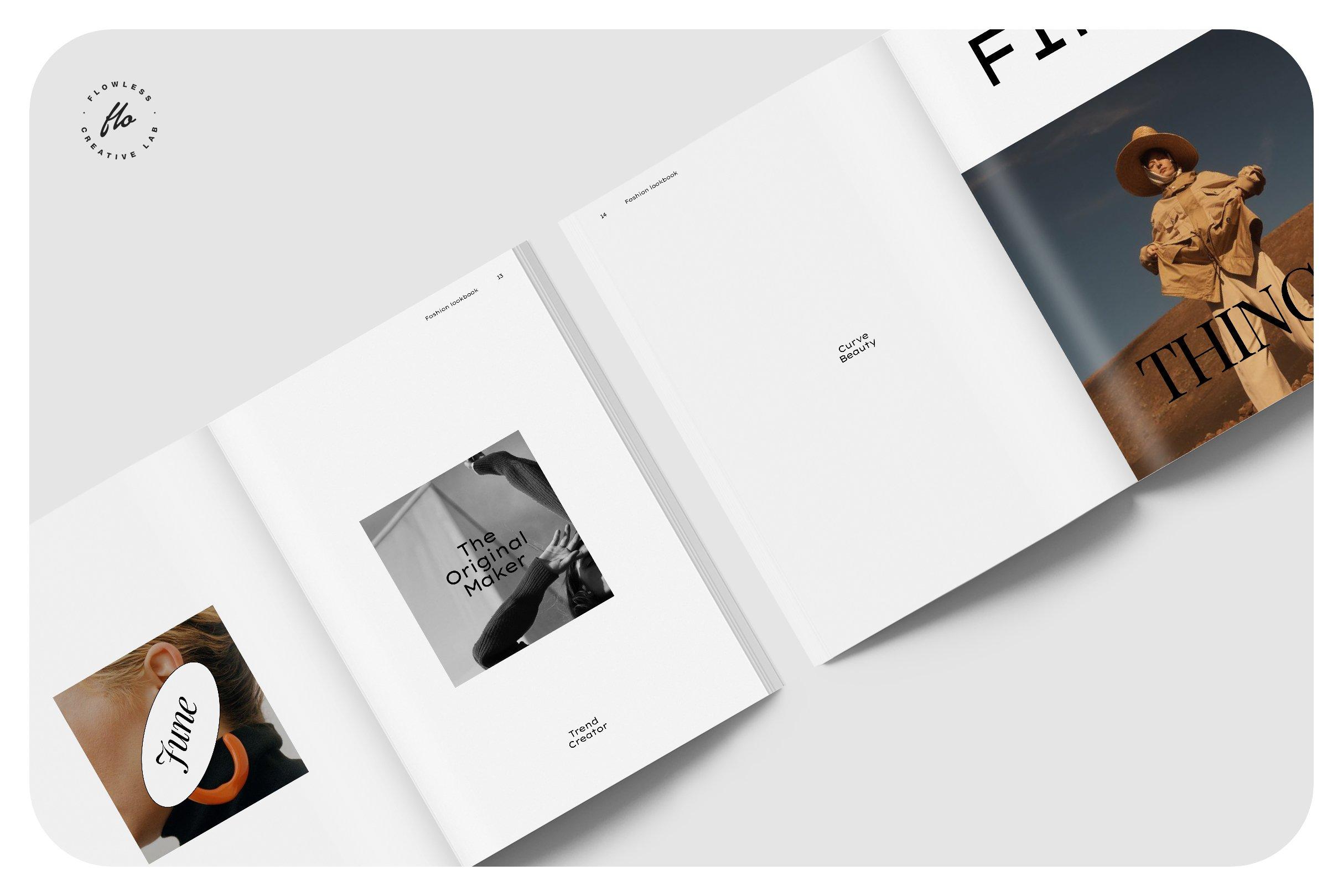 极简服装造型设计INDD画册模板 SOFT TOUCH Fashion Lookbook插图(2)