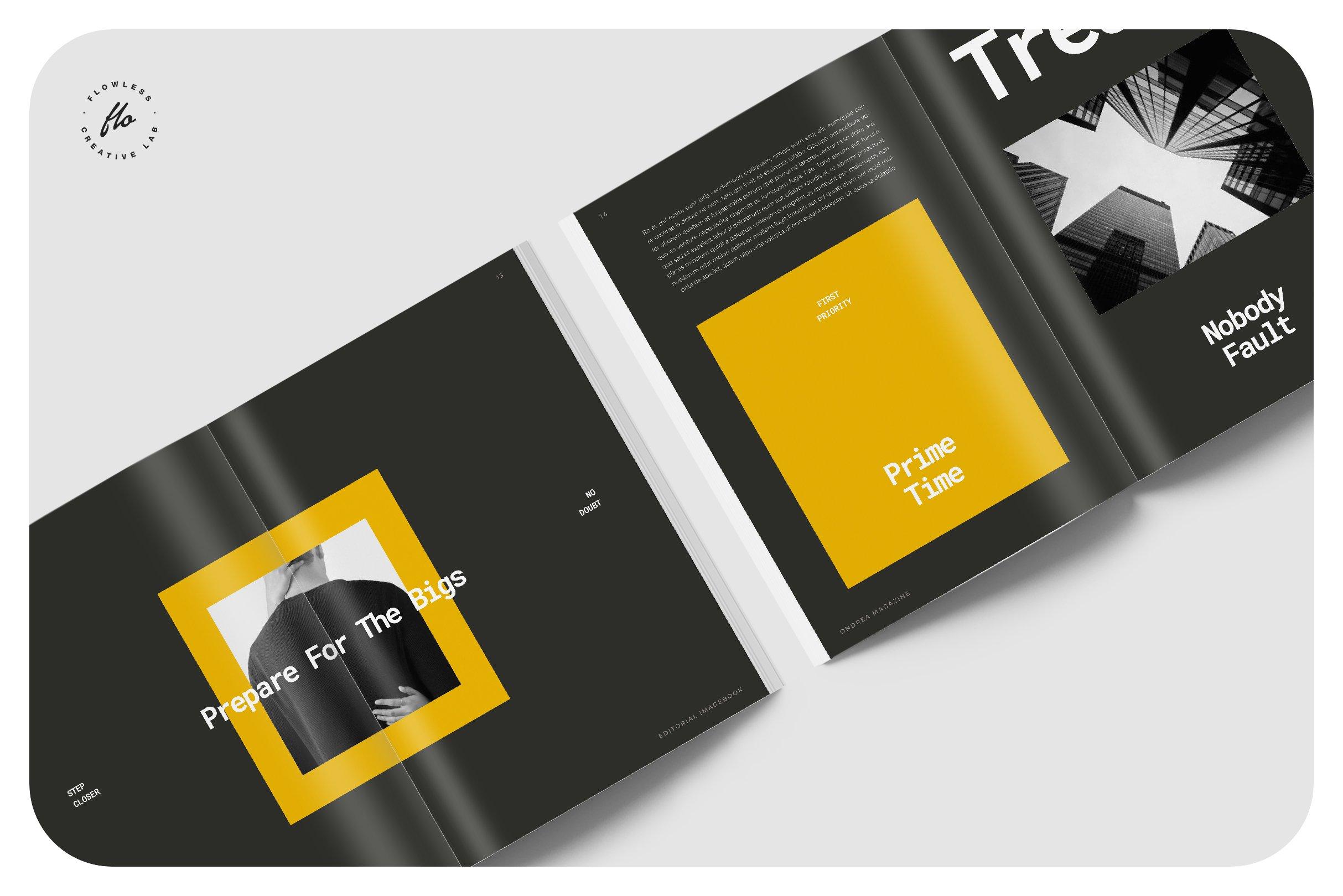 摄影作品集设计INDD画册模板 DIMENSI Editorial Imagebook插图(2)