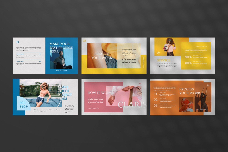 [淘宝购买]现代极简女装品牌摄影作品集设计Keynote演示文稿模板 CLARIS Pastel Keynote Template插图(3)