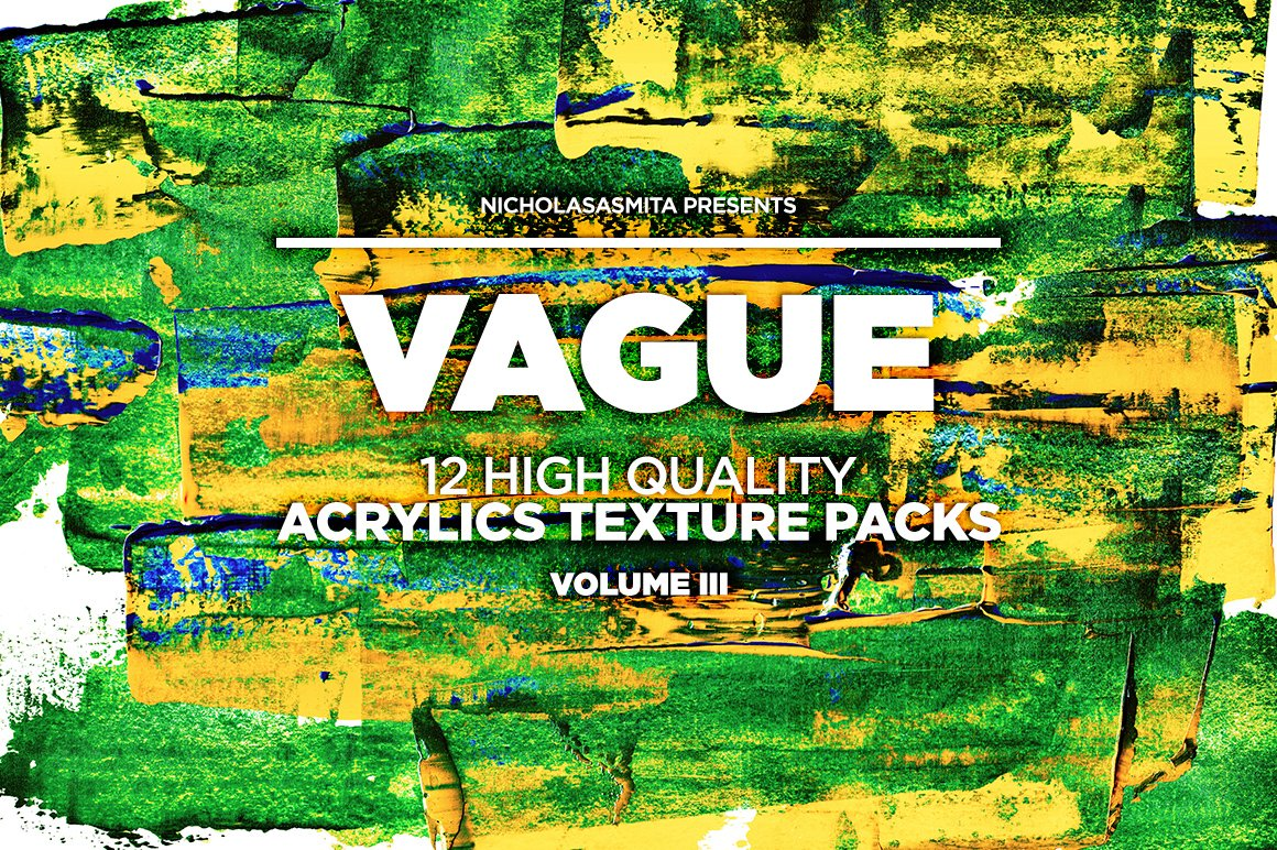 12款高清炫彩丙烯酸涂料背景纹理图片素材 Vague III: 12 Acrylics Textures插图(9)