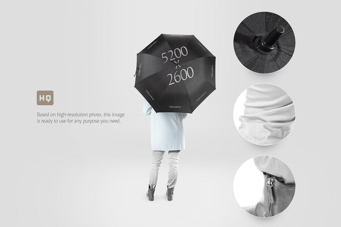 太阳伞雨伞印花设计展示样机模板 Umbrella Mockup插图(2)