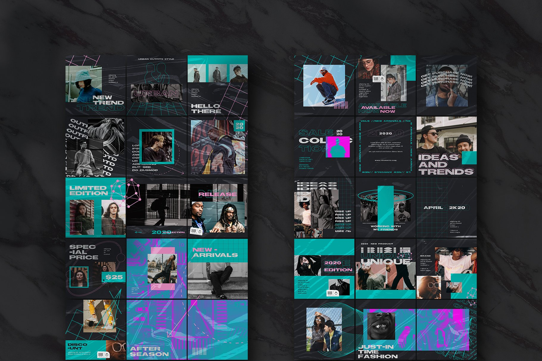 潮流品牌推广新媒体海报设计模板 Gumond Puzzle Instagram Feed插图(1)