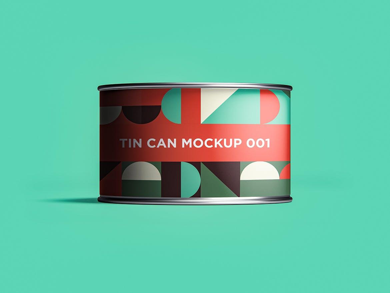 12款食品罐头易拉罐锡罐外观设计展示样机模板 Tin Can Mockup Set插图(2)