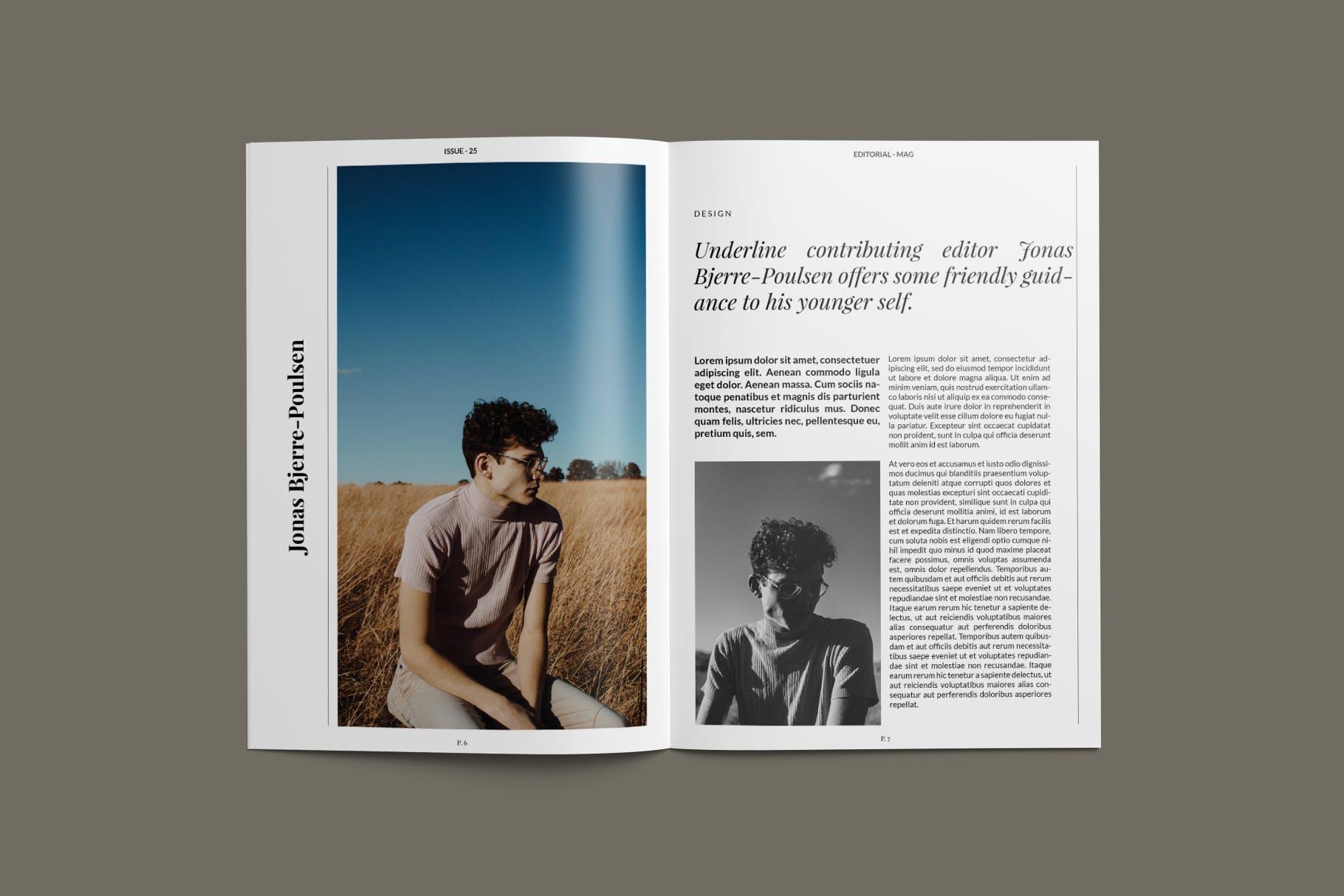 现代时尚摄影作品集设计画册INDD模板 Magazine Template插图(2)