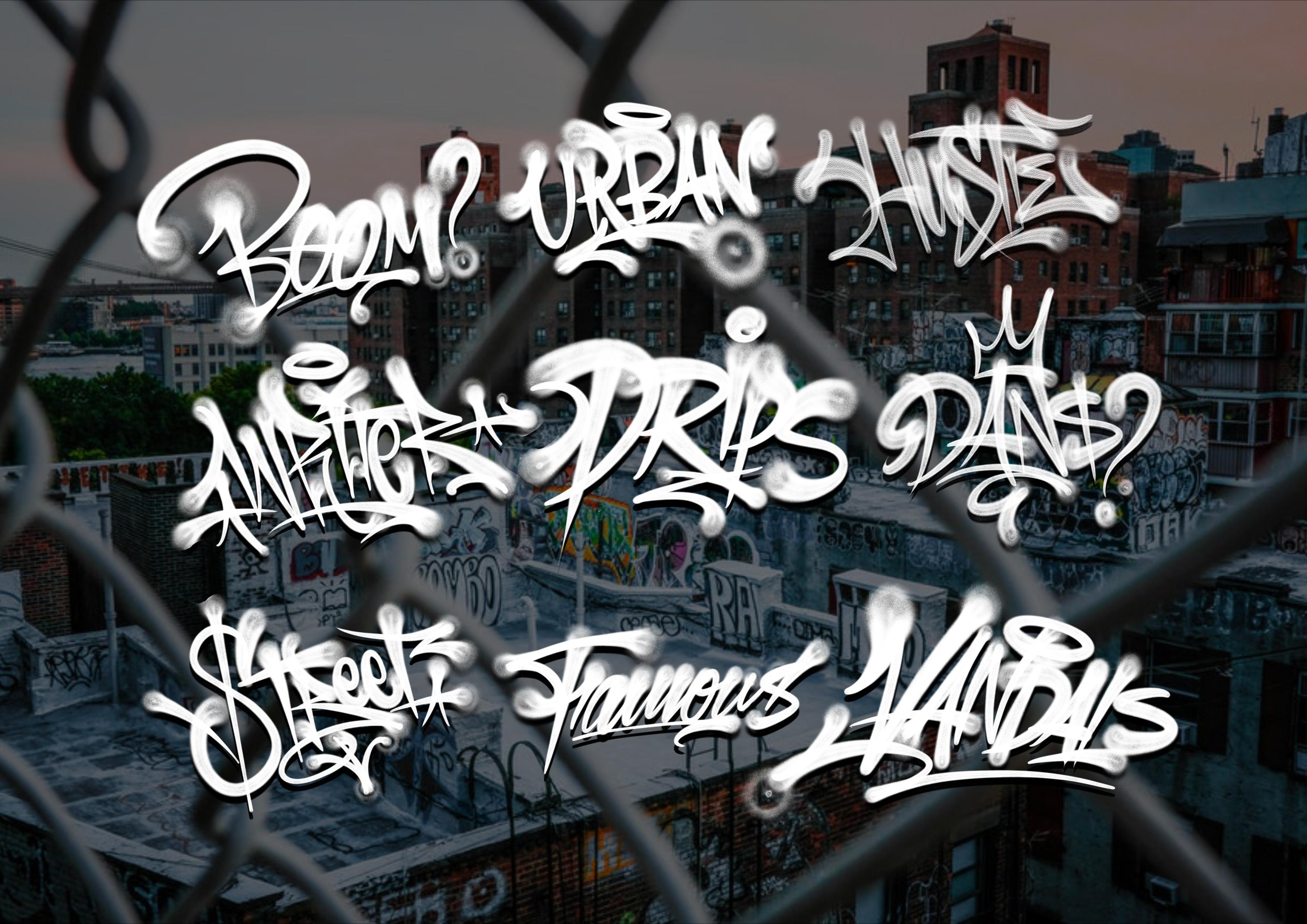 数字绘画涂鸦效果Procreate笔刷下载 GRAFFITI BRUSHES for Procreate插图(3)