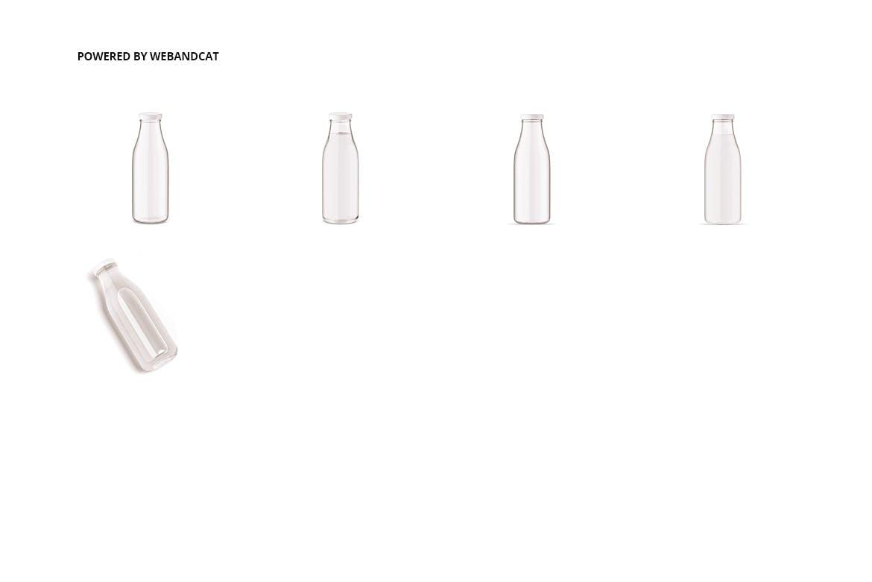 果汁牛奶玻璃瓶设计展示样机 Juice / Glass Bottle Mockup插图(2)