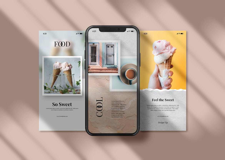 APP应用新媒体海报设计iPhone设计屏幕演示样机模板 Instagram Post & iPhone – Mockup插图(2)