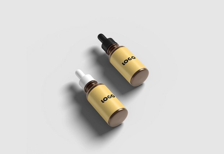 化妆品药物滴管瓶设计展示样机 Dropper Bottle Mockup插图(2)