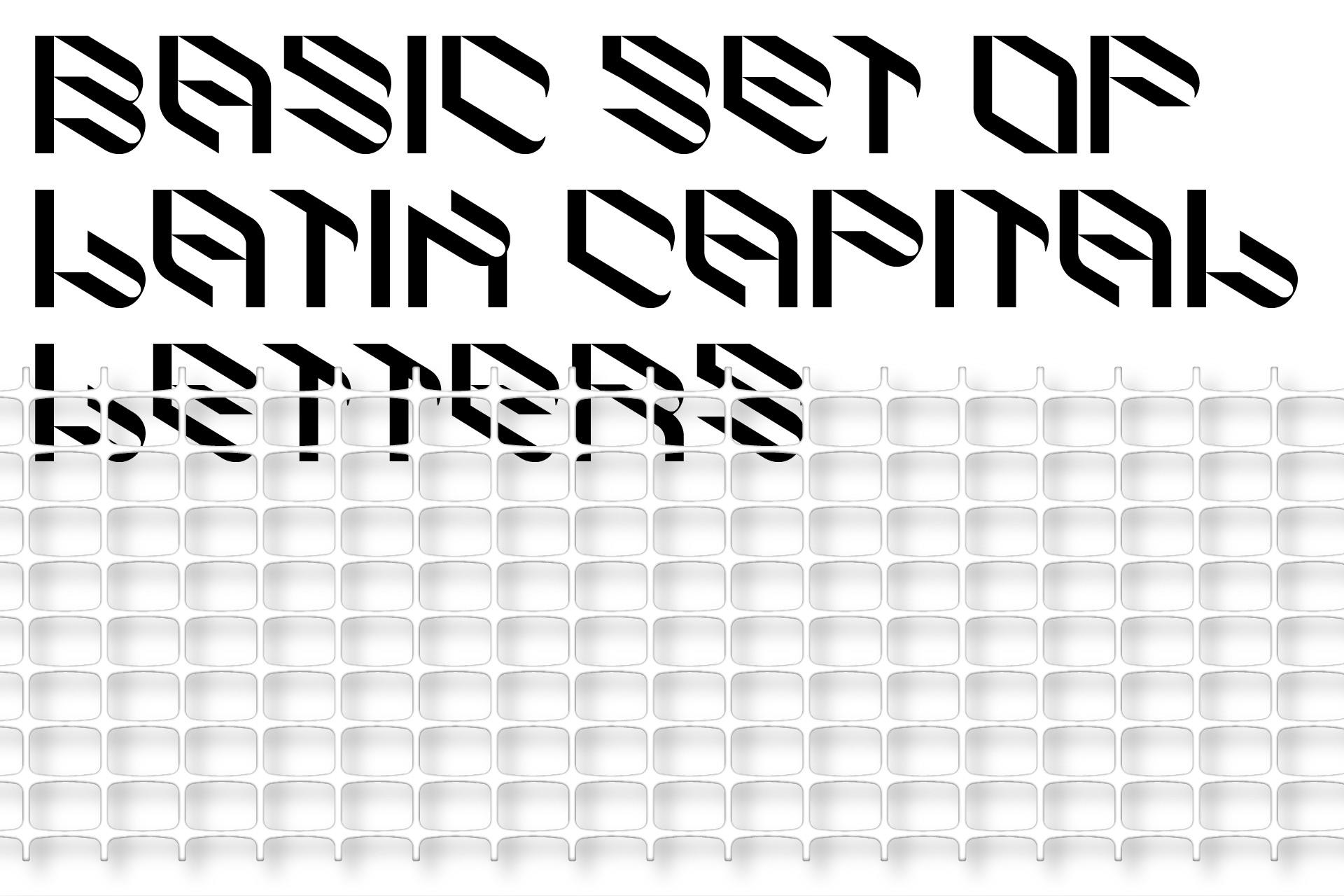 倾斜对角线英文字体下载 Eskos Typeface插图(2)