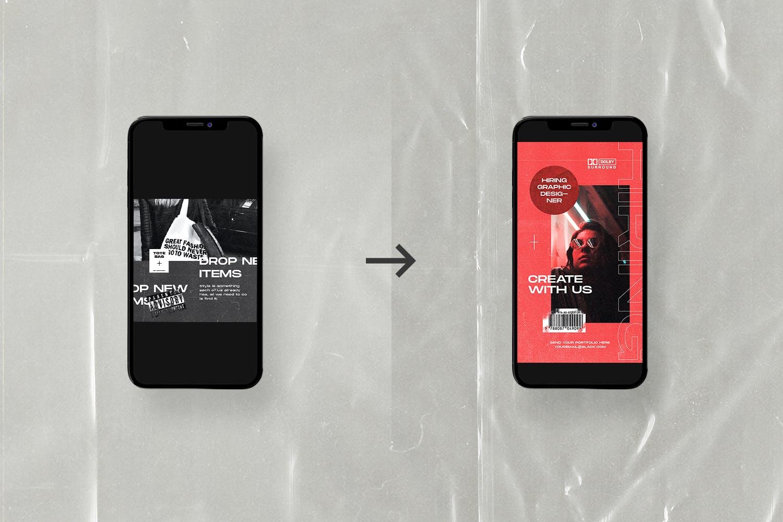 潮流服装品牌推广社交新媒体海报设计模板 Social Media Template插图(2)