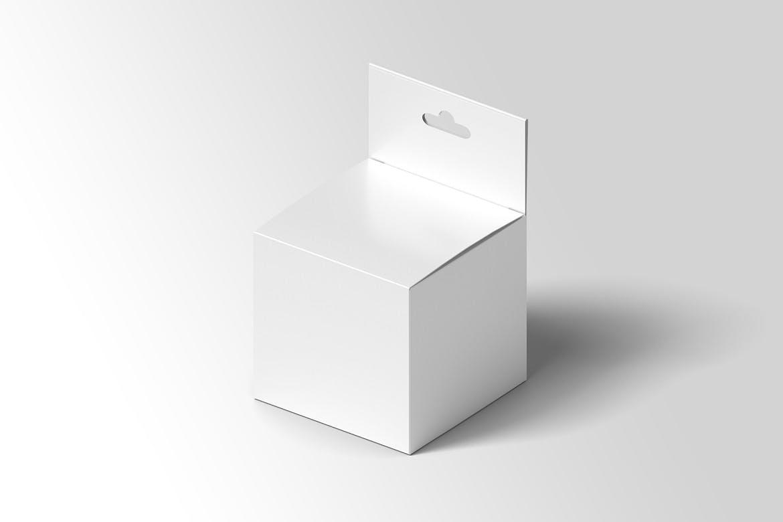 方形产品包装纸盒设计展示样机模板 Square Box Mockup Packaging插图(2)