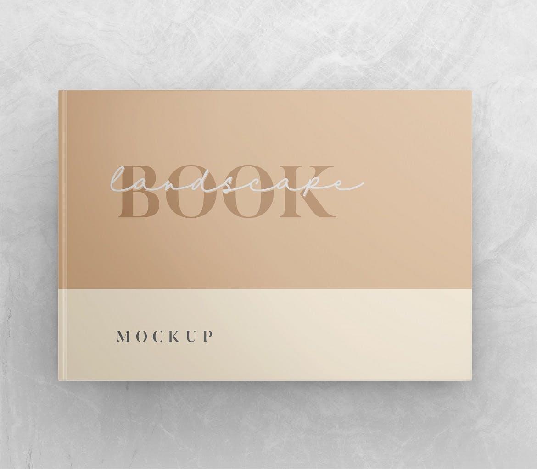 横向精装书画册设计智能贴图样机 Landscape Book – Mockup Vol.2插图(2)