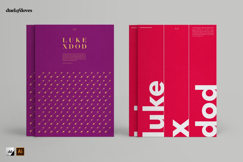 时尚海报简历文字版式设AI模板素材 Typographic Resume Posters – Vol. 3插图(2)