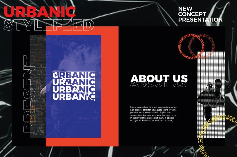 潮流服装摄影作品集PPT幻灯片设计模板 Urbanic Powerpoint Templates插图(2)