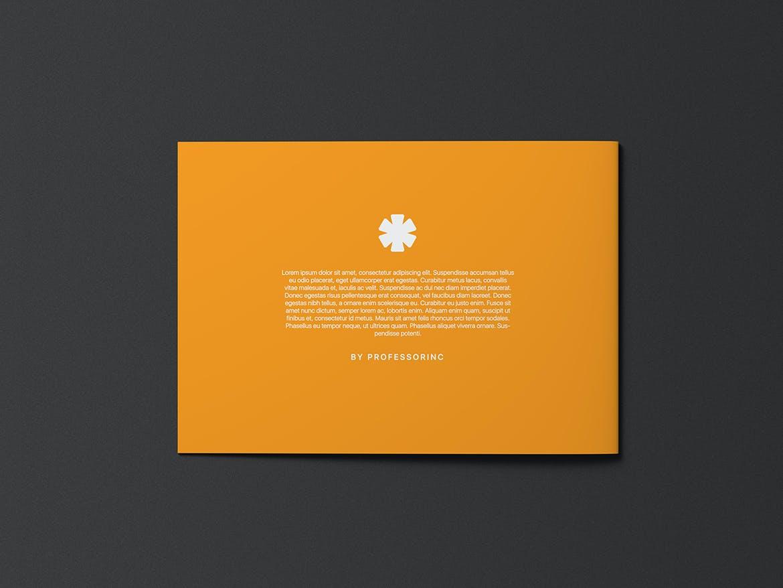 A5横版画册杂志设计展示样机模板 A5 Landscape Catalogue Brochure Mockup插图(2)
