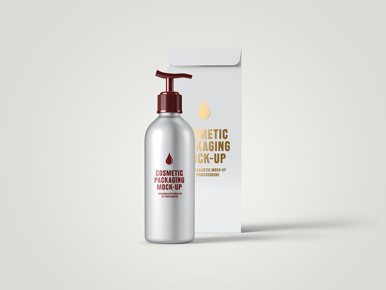 化妆品挤压瓶包装盒设计展示样机 Cosmetic Packaging Mockup插图(2)