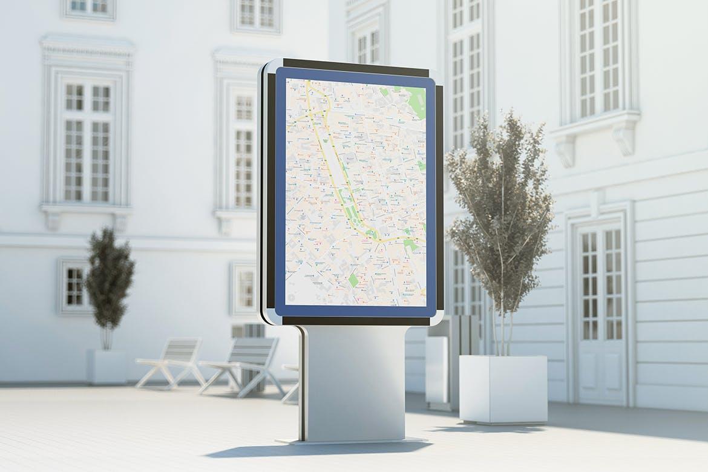 城市灯箱广告牌设计展示样机 City Light Board Mockup插图(2)