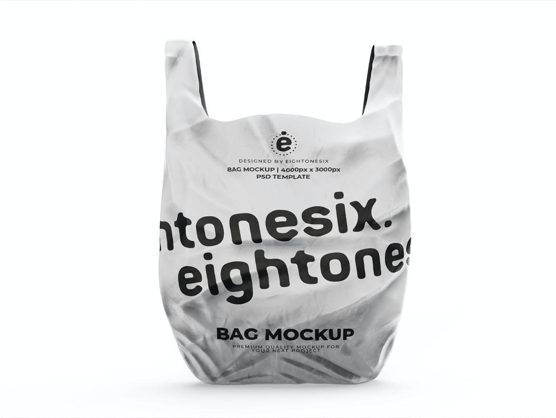 塑料袋设计展示样机模板 Plastic Bag Mockup Template插图(2)