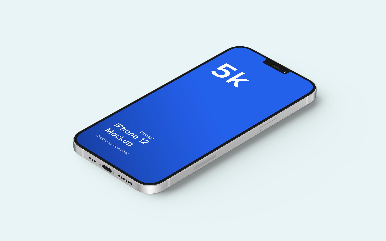 苹果iPhone 12手机概念样机 iPhone 12 Mockup 5.0 (Concept)插图(5)