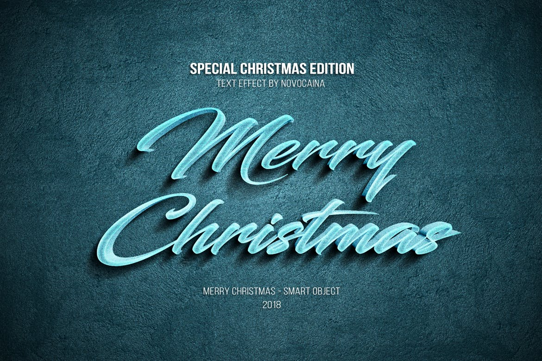 金属质感立体效果圣诞文字PS样式模板 Christmas Text Effects插图(2)