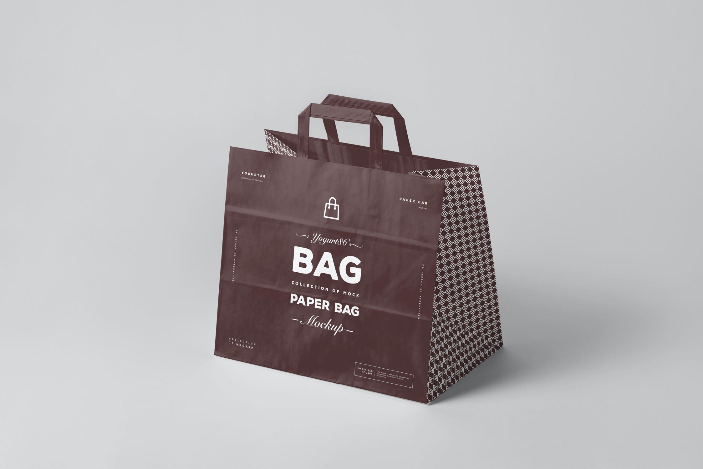 11款商城购物手提纸袋设计展示样机 Paper Bag Mockup 3插图(2)
