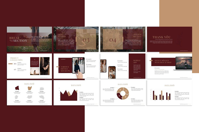 多用途服装营销策划案演示文稿设计模板 Flowlest – Presentation Template插图(2)