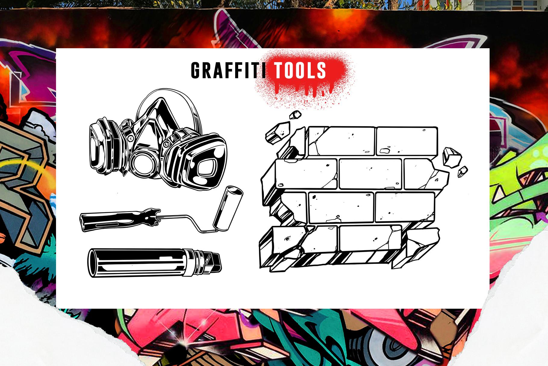 31款涂鸦效果Procreate笔刷下载 Graffiti Bombing Procreate Brush Kit插图(4)