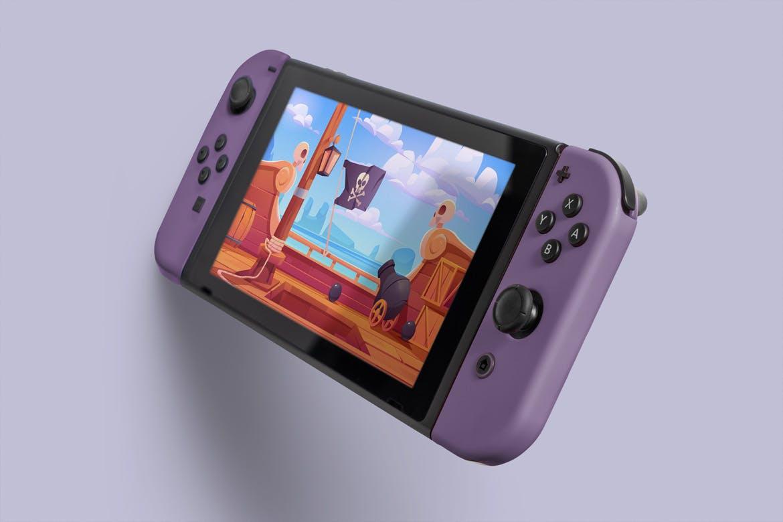8款Wii U掌上游戏机游戏设计预览样机 8 Switch Console Mockups插图(2)