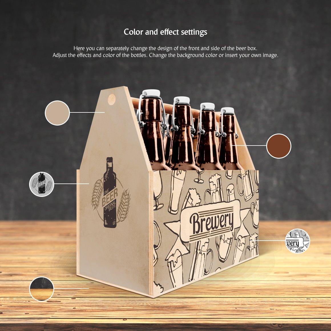 工艺啤酒包装盒设计展示样机模板 Craft Beer Box Mockup插图(2)