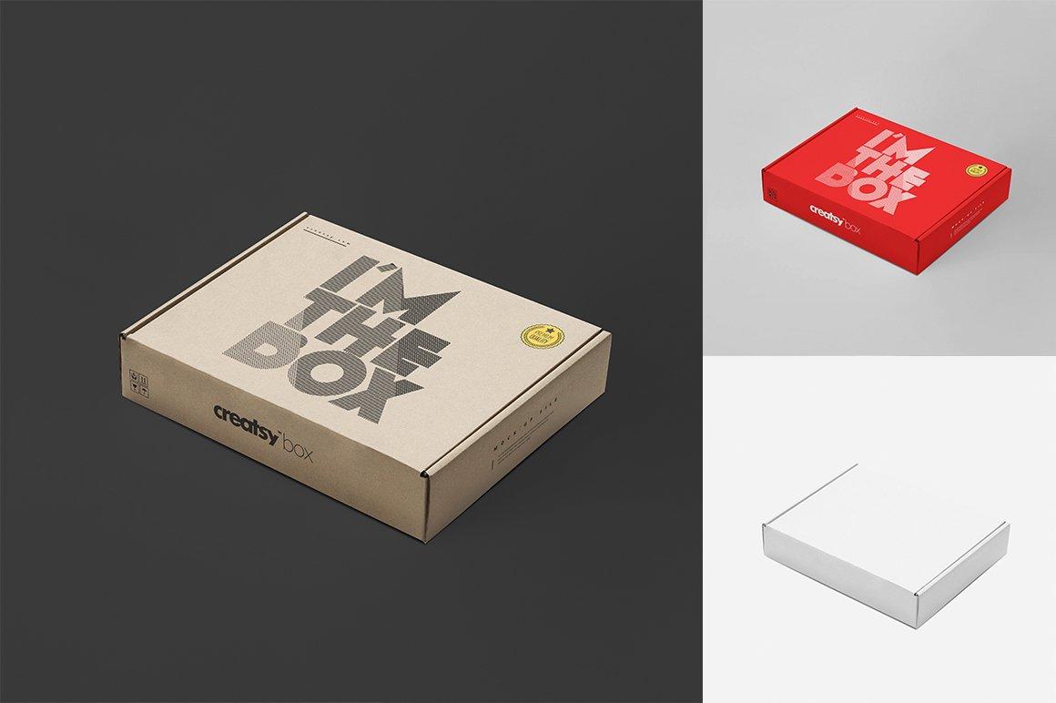 快递包裹纸盒外观设计展示样机集 Mailing Box Mockup Set插图(2)