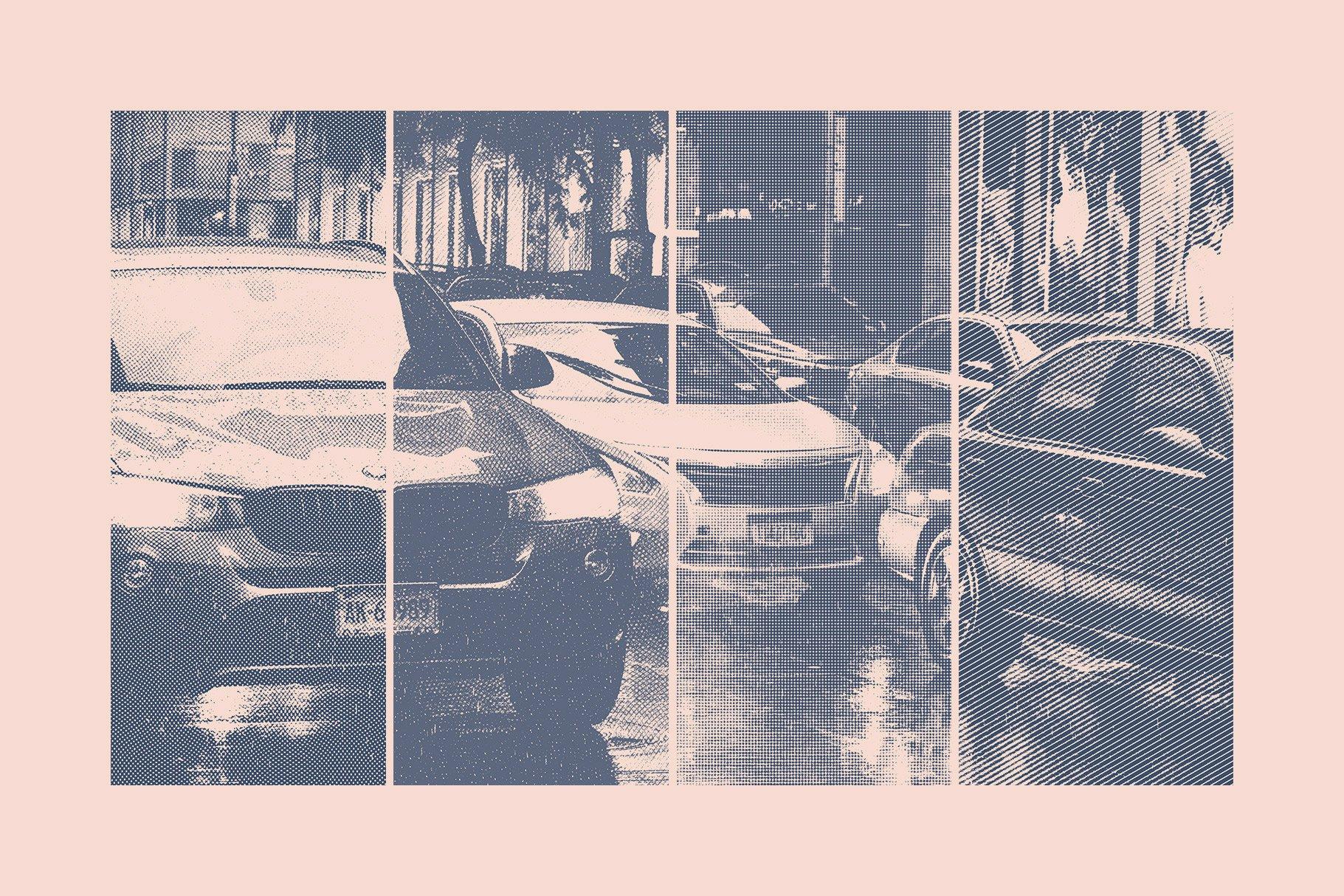 复古雕刻半调横纹波点效果Ps图片生成样式模板 Engraving & Halftone Effect Creator插图(2)