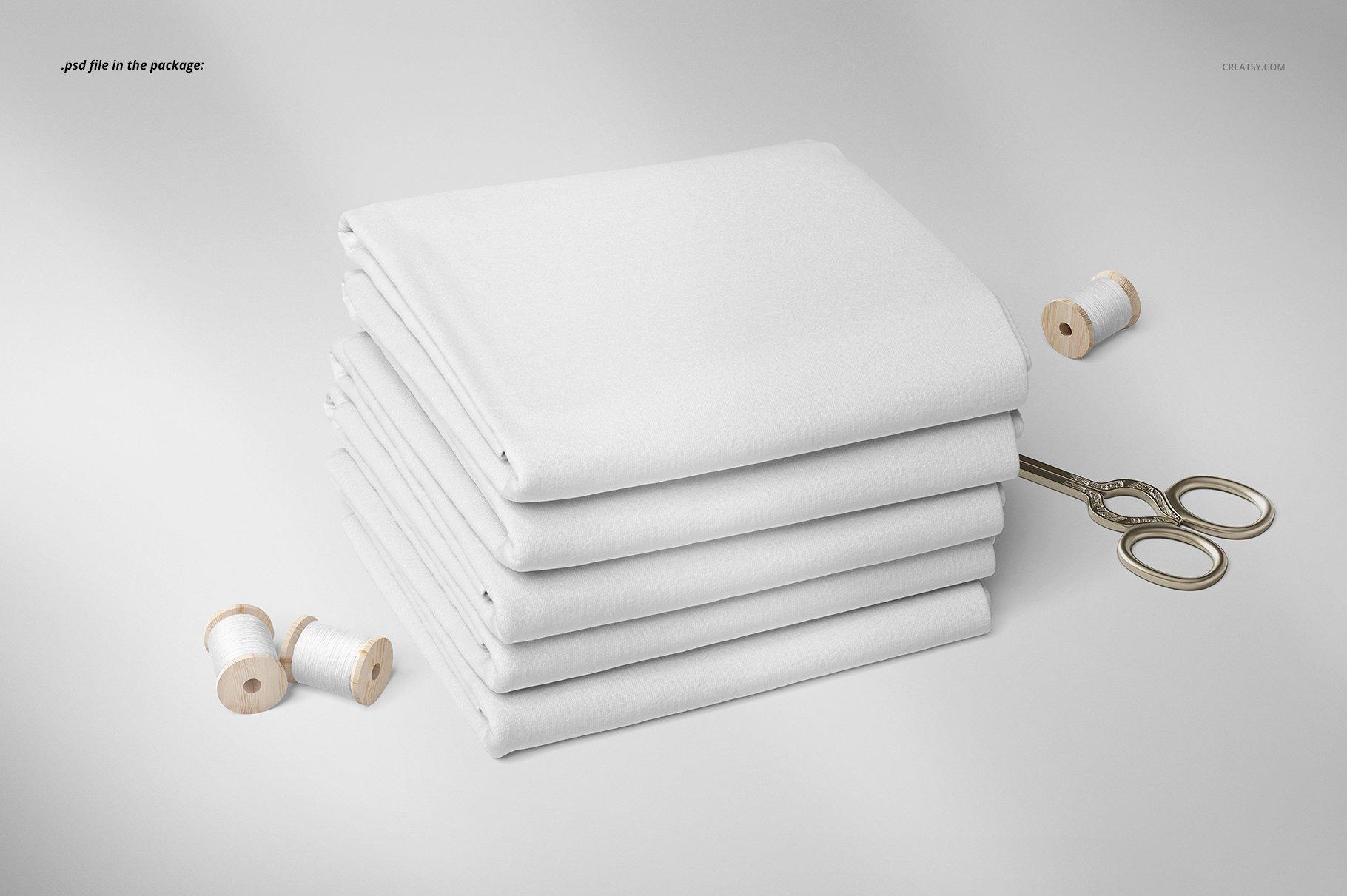 折叠纺织面料布料印花设计展示样机 Folded Fabrics Mockup 02/FF v.6插图(3)